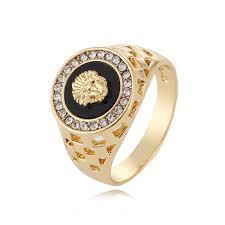 mens ring 2017 new men s ring 18k white and gold plated diamond ring