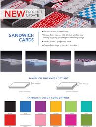 overnight prints on new sandwich business cards http