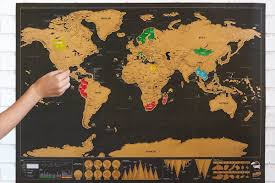 World Scratch Map by Cool Scratch Off Map Documents All Your Travels Curbed