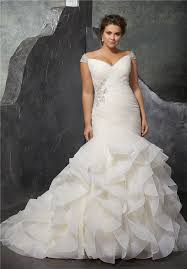 the shoulder wedding dress plus size wedding dresses
