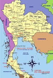map of thailand tourist maps