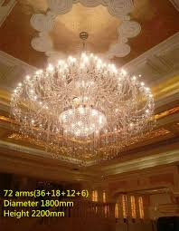 Church Chandelier Modern Large Clear Church Chandeliers 55 72 Lights Hanging