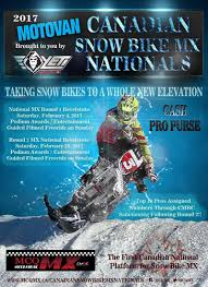 canadian pro motocross revy riders to hold first ever canadian snowbike mx nationals