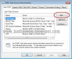 cara membuat koneksi database mysql menggunakan odbc cara membuat data source name dsn odbc programing software