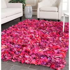 Purple Flower Rug Safavieh Rio Shag Ivory Pink 6 Ft X 9 Ft Area Rug Sg951p 6 The