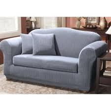 sure fit stretch pinstripe box cushion sofa slipcover u0026 reviews