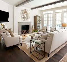Leather Area Rugs Neutral Family Room Family Room Traditional With Off White