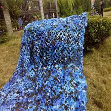 Camouflage Netting Decoration 3m 10m Sea Blue Military Camouflage Netting Decoration Ocean