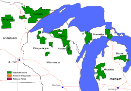 Wisconsin national parks images National forest grasslands map wisconsin minnesota and michigan gif