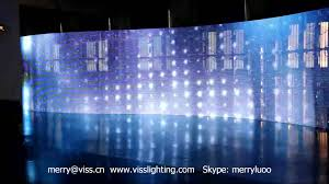 Curtain Led Display Viss Lighting Led Curtain Led Display Rental Led Screen P9 Youtube