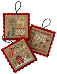 Lizzie Kate Christmas Ornaments Counted Cross Stitch Patterns