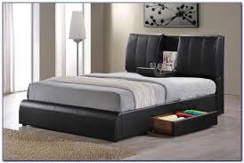 queen size bed frame with storage drawers bedroom home design
