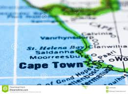 Map Of Cape Town South Africa by Close Up Of Cape Town On Map South Africa Royalty Free Stock