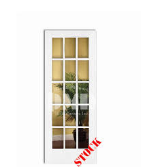 15 light french door 15 lite french clear glass primed 6 8 80 door and millwork