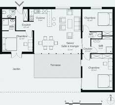 plan maison contemporaine plain pied 3 chambres plan maison moderne gratuit pdf beau plan de maison individuelle