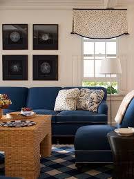 navy sofa white piping houzz