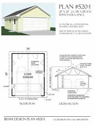 amazon com garage plans 2 car garage plan 600 1 20 u0027 x 30