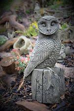 owl garden statues lawn ornaments ebay