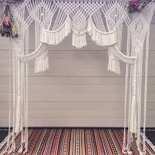 wedding backdrop drapes furniture buy pipe and drape macrame wedding backdrop