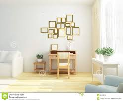 scandinavian style living room light white interior of living room with vintage cabinet table