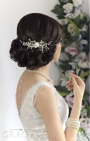 bridal hair comb bridal hair comb pearl wedding comb by topgracia