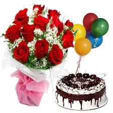 birthday flower cake birthday flowers cake balloons same day flowers cakes and balloons