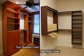 wall hung closets vs floor mounted closets