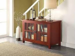 buffet console sideboard table tv stand media audio center glass