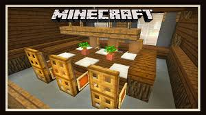 minecraft tutorial how to make a dining room with table and inside