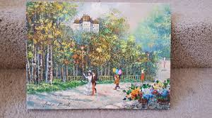 i have an oil painting by andre moret it u0027s a man and woman