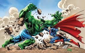 win fight superman hulk updated