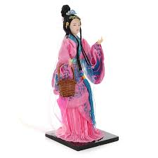 kiwarm 1pc vintage chinese doll ancient chinese beauty figurines
