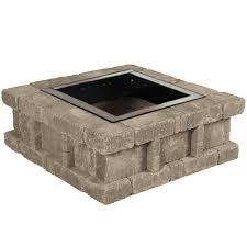 Concrete Firepit Pavestone Rumblestone 38 5 In X 14 In Square Concrete Pit