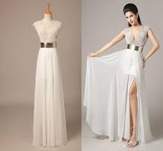 discount in stock beach wedding dress julie vino v neck cap