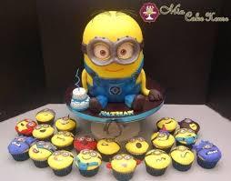 minion cupcake cake minion cake and cupcakes cake by cakesdecor