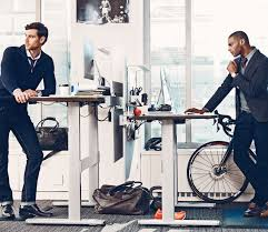 Sitting On A Medicine Ball At Desk Get Fit Work How The Standing Desk Can Improve Your Health