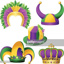 mardi gras crown mardi gras hats assortment vector getty images