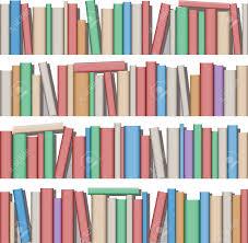 100 books on bookshelves vector illusdtarion books on