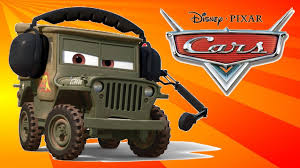 cars movie character sarge 1 friend mcqueen u0026 mater cut
