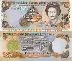 twenty five dollars cayman islands 25 dollars 2003 caymanese currency bank notes