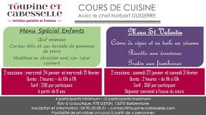 cours de cuisine norbert cours de cuisine