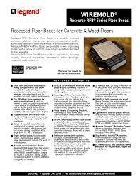 Legrand Efb6s by Rfb2 Og Floor Box Carpet Vidalondon
