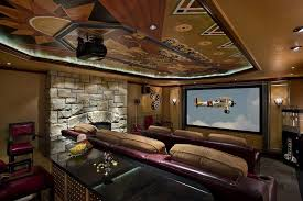 Fireplace Popcorn Popper by Magnificent Movie Room Home Theater Contemporary With Star Ceiling