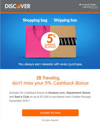 get 5 cashback on purchase discover 2b traveling