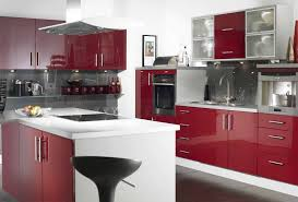 Kitchen Cabinets Uk Only by Kitchen Modern Cabinet Glossy Red Paint Finish Wood And White