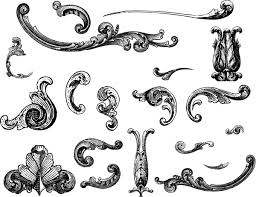engraved ornaments vectorific