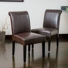 cream modern dining room chair faux leather roll top scroll high