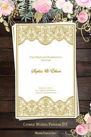 order of ceremony for wedding program catholic church wedding program order of service templates