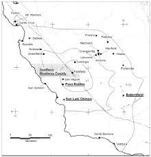 Paso Robles Map San Andreas Fault Zone California M 5 5 Earthquake History