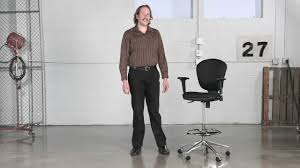 safco metro extended height chair youtube